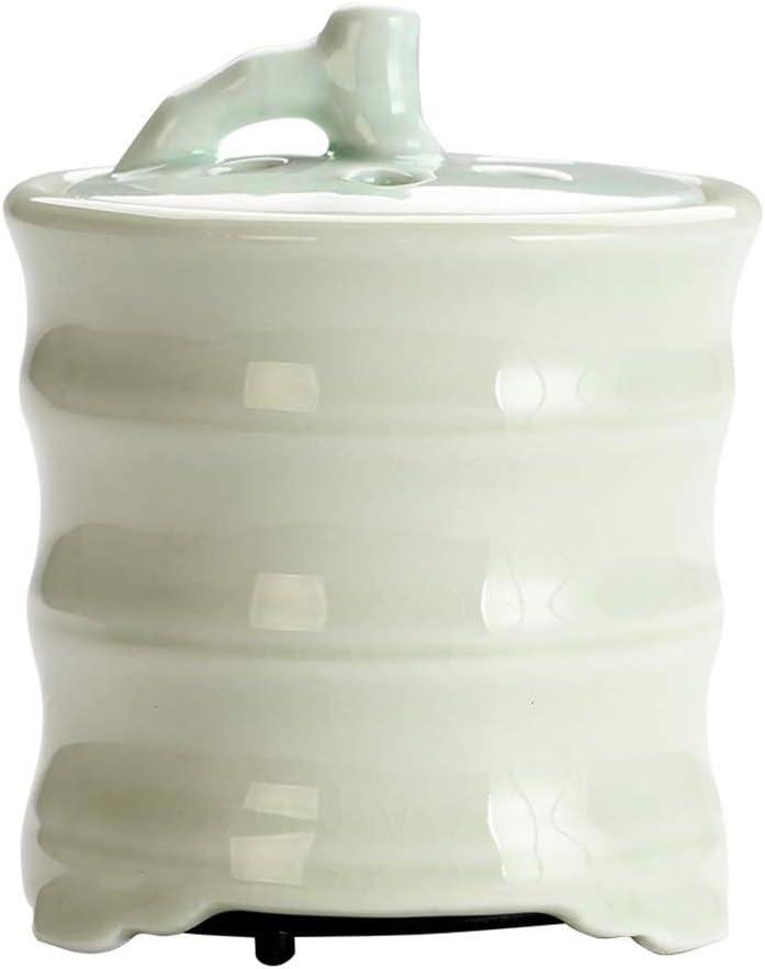 AFHJN Quemador de Incienso electrónico, Horno de Madera de agar cerámica Cerámica doméstica Purificador de Aire Quemador de Incienso eléctrico Lámpara de Fragancia de Horno de Aceite Esencial