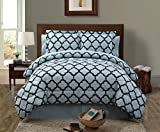 VCNY Galaxy 8-Piece Comforter Set, Queen, Blue/Chocolate