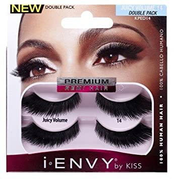 Amazon.com: Kiss I Envy Juicy Volume 14 Double Pack Lashes ...