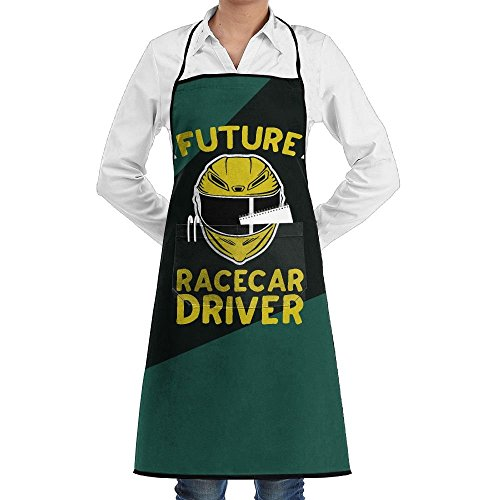 (Future Racecar Driver Adjustable Bib Kitchen Aprons Professional Chefs Aprons With Pockets)