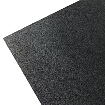 "Plastics 2000 ABS Sheet - .060"" Thick, Black, 12"" x 12"" Nominal"