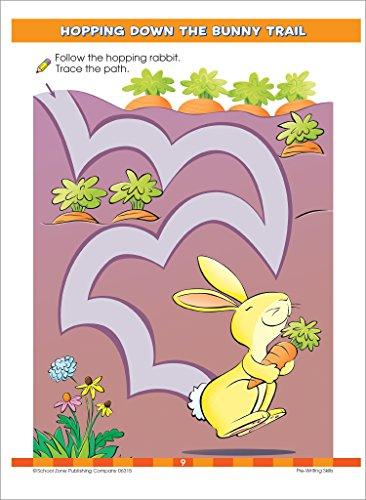 School Zone - Big Preschool Workbook - Ages 3 to 5, Colors, Preschool to Kindergarten, Shapes, Numbers 1-10, Alphabet, Pre-Writing, Pre-Reading, and Phonics (School Zone Big Workbook Series)