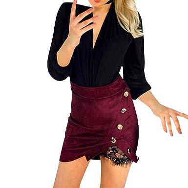 3387fc4a1afa85 Roiper Robe pour Femme, Jupe imprimée léopard Taille Haute Sexy ...