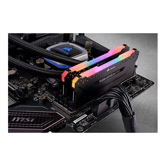 Corsair Vengeance RGB Pro 32GB (2x16GB) DDR4 3200 (PC4-25600) C16 Desktop Memory - Black (CMW32GX4M2C3200C16)