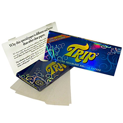 TRIP 2 KING SIZE Clear Cigarette Papers 24 packs Full Box by TRIP 2 King ()
