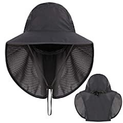 Sun Hat Outdoor Sun Protection Camping Fishing Hat Wide Brim Face Flap Cover Cap Features:Fashion design,100% Brand New,high quality!    1.The 360 degree sun protection outdoor sun hat has the mask and flap, keep delicate skin on the neak, ea...