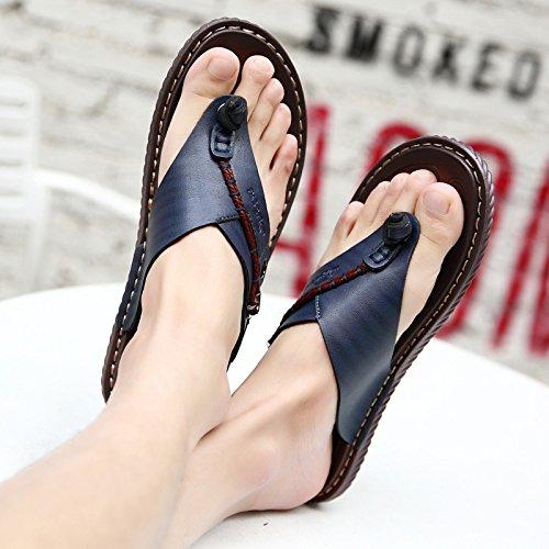 @Sandals Sommer Skid, Toe Clip, Herren, Legere Schuhe, Schuhe, Schuhe, Koreanische Hausschuhe, Große Größe Flip Flops.  e61526