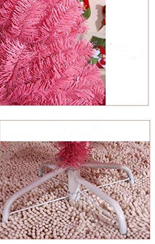 GOWE Decoration Ornaments Tree Christmas Tree Artificial Xmas Tree Christmas PVC Pink Thick Leaves Ornaments 1.5M 2