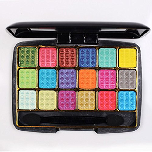Tmalltide Professional 18 Colors Diamond Eye Shadow Palette To Face Particles Eyeshadow Glitter With Eye Shadow Brush Make Up