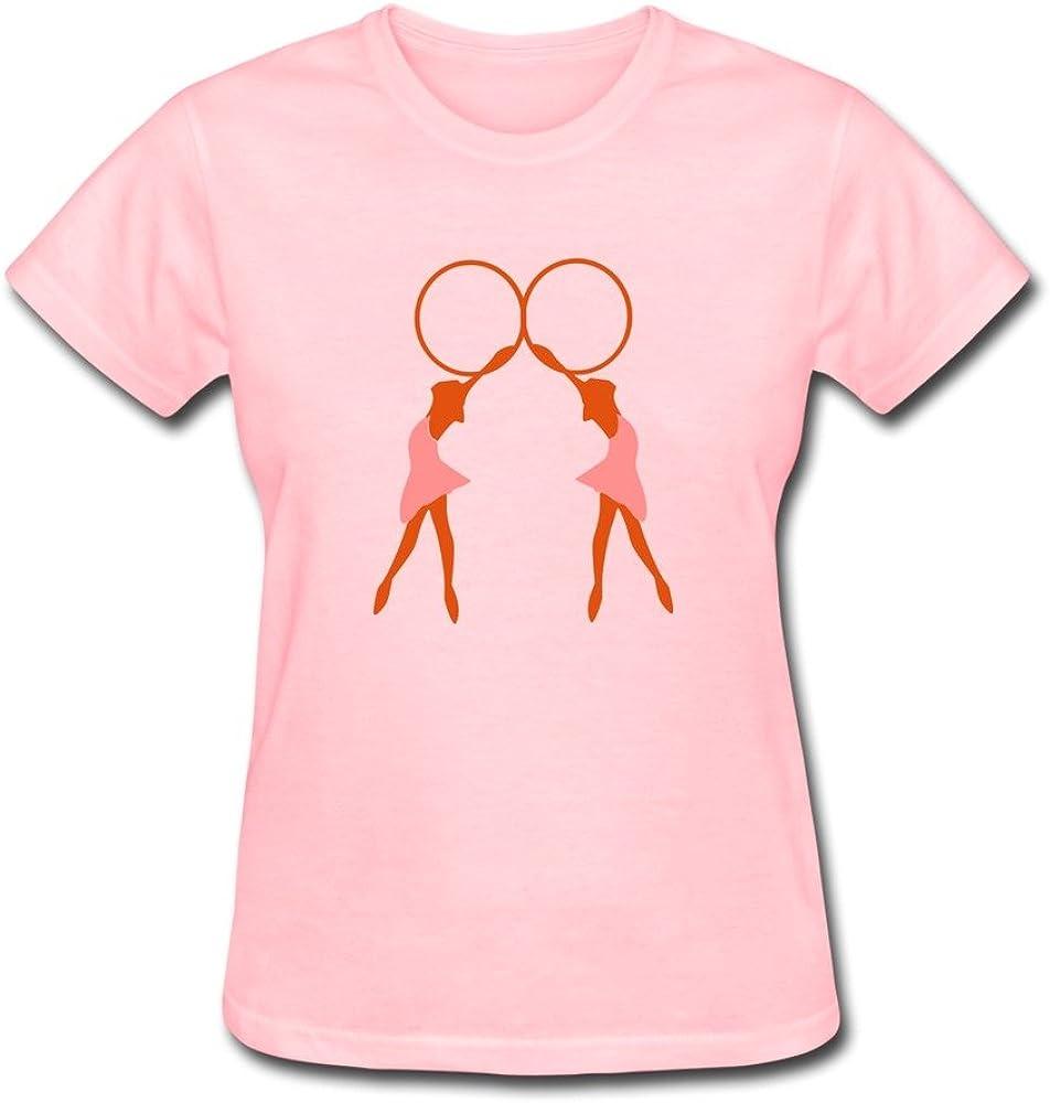 WSB Women's T Shirt Vintage Cool Rhythmic Gymnast Sport Custom T-shirt Pink