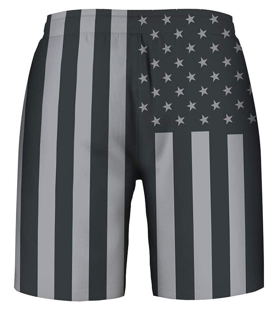 e4ae73731e GLUDEAR Men's 3D Print Casual Classic Drawstring Loose Fit Trunks  Boardshort Shorts at Amazon Men's Clothing store: