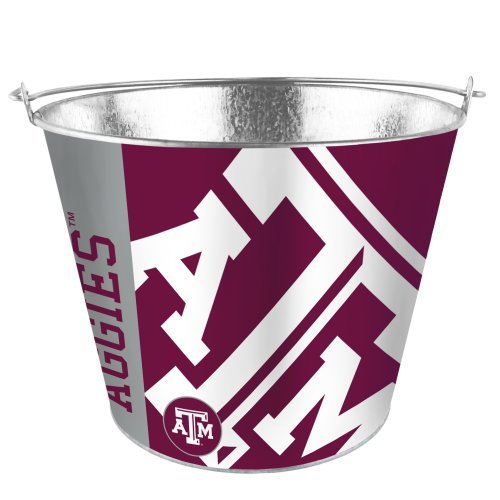 NCAA Texas A&M - Color Metal Beer Bucket | Texas A&M Aggies 5 Quart Ice Pail - Hype Design ()