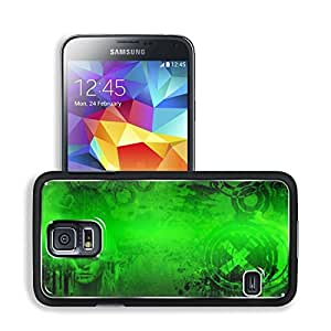 Abstract Green Color Woman Design Samsung Galaxy S5 SM-G900 Snap Cover Premium Aluminium Design Back Plate Case Open Ports Customized Made to Order Support Ready 5 8/16 Inch (140mm) X 3 2/16 Inch (80mm) X 11/16 Inch (17mm) MSD S5 Professional Cases Access by mcsharks