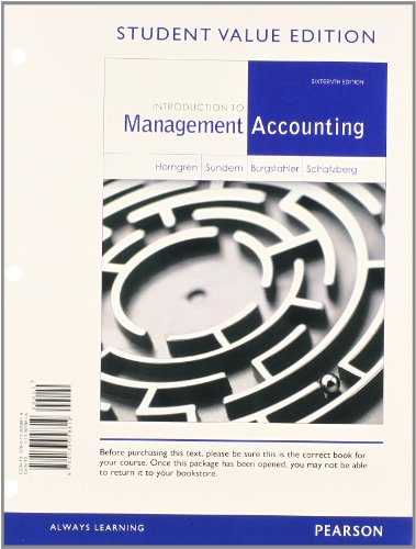 Intro.To Mgmt.Acct. (Looseleaf)
