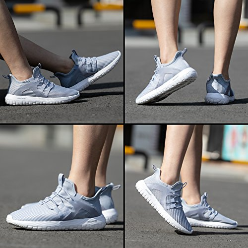 Slip Men White Sneakers Casual Running Sports On Shoes Cushioning Grey Lightweight ONEMIX AwqZaq