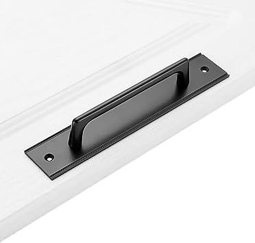 Aleación De Aluminio Pomos Para Puerta Tirador De Puerta De Granero Resistente Negro Usos Múltiples Nuestras Manijas Se Pueden Usar Para Puertas Cobertizos Armarios Puertas Correderas Etc: Amazon.es: Bricolaje y herramientas