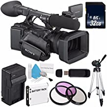 Sony HXR-NX5 Camcorder International Model NXCAM Professional Camcorder International Model + NP-F970 Rechargeable Lithium Ion Battery + 72mm 3 Piece Filter Kit Bundle
