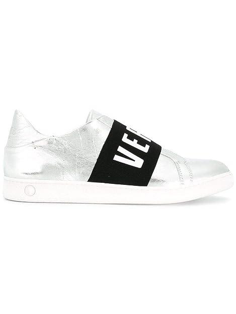 Versus Versace Slip On Sneakers Donna Fsx012cfvstlf935 Pelle Argento  Amazon .it  Scarpe e borse 42e735bc9e8