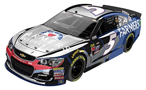 Lionel Racing Kasey Kahne # 5 Farmers Insurance 2017 Chevrolet SS  1:24 Scale ARC Color Chrome HOTO Official Diecast of The NASCAR Cup Series.