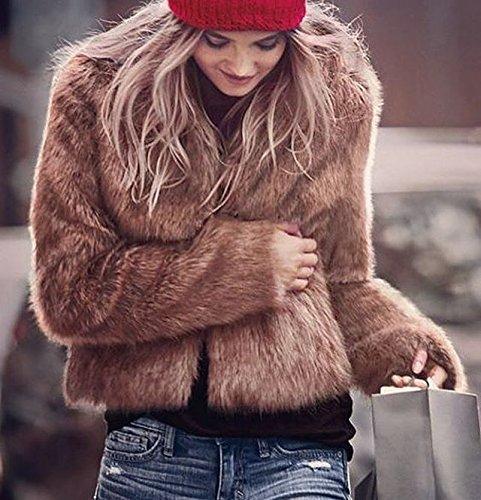 Fausse VLUNT Manteau Doux Imitation de Fourrure Fourrure D Cardigan Femmes x6vPg