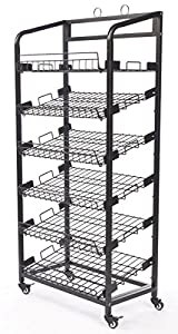 Amazon Com Displays2go Steel Baker S Rack With Wheels 6