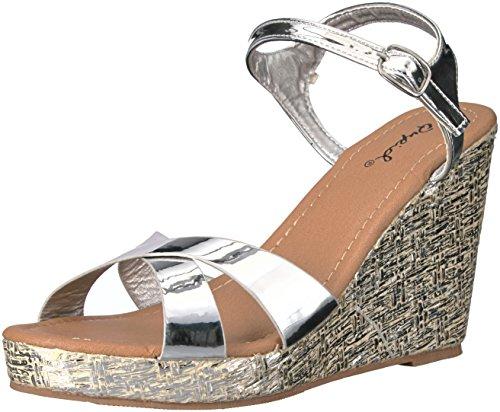 01 Silver Women Sandal - 6