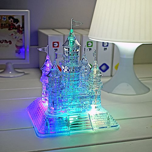 WAYCOM 3D Crystal Castle Puzzle - 3D Jigsaw, Light-up Musical,105pcs - Buy Online in UAE. | Toys ...