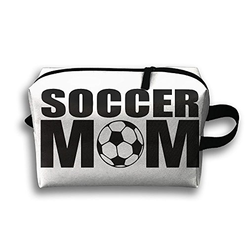 Travel Bags Soccer Football Mom Portable Storage Bag Clutch Wallets Cosmetic Bags Organizer Zipper Hangbag Carry Case