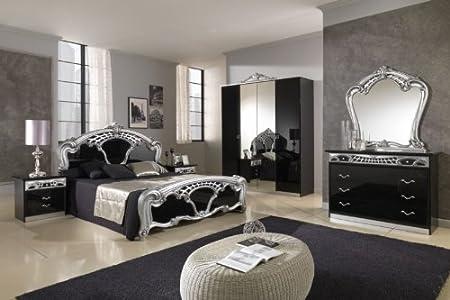 Amazon.de: Sara schwarz &Silber italienische Schlafzimmer/Badezimmer ...