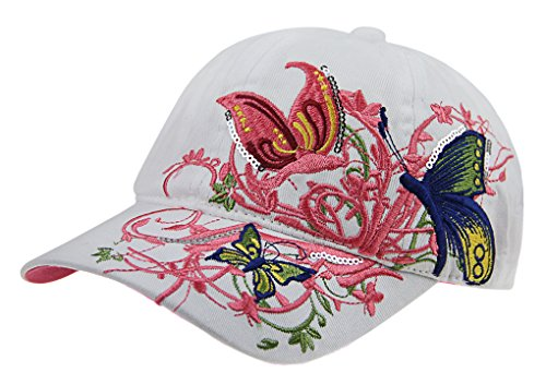 2c61610a79d Girls Boys Cotton Butterfly Embrioderied Baseball Cap Adjustable Snapback  Hat Travel Sports Beach Sun Protection Hat Trucker Flat Dressing Hat - Buy  Online ...