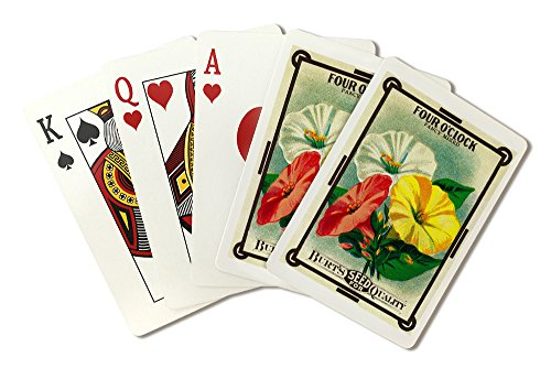 Four O'Clock Seed Packet (Playing Card Deck - 52 Card Poker Size with Jokers)
