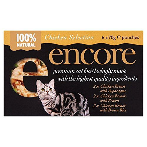 ENCORE Chicken Selection Cat Pouch 6 x 70g (Pack of 4) by ENCORE