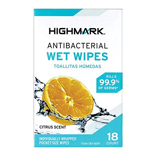 Amazon.com: Personal Care Wet Wipes, Citrus Scent, 18 Wipes Per Box: Office Products