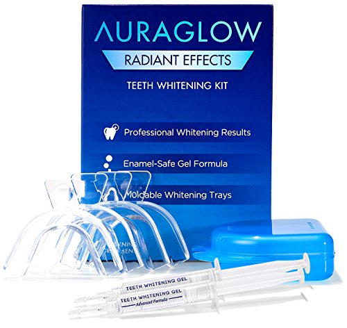 Smile System Whitening (AuraGlow Radiant Effects Teeth Whitening Kit - 35% Carbamide Peroxide - 20 Treatments)