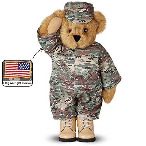 Vermont Teddy Bear - Army Bear in Camouflage, 15 inches, Brown - Made in the USA ()