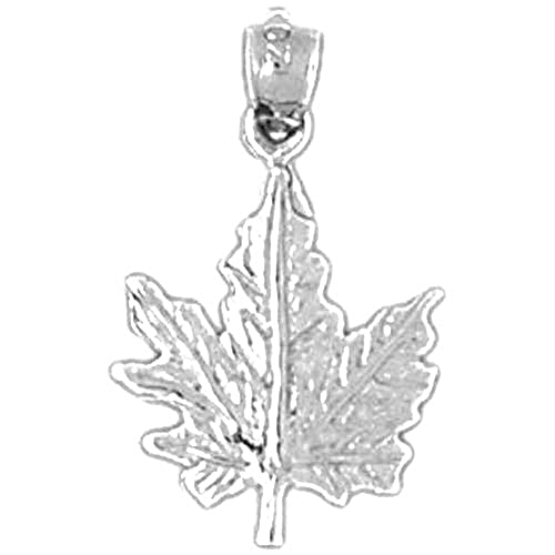 14k white gold maple leaf pendant 22 mm amazon jewelry 14k white gold maple leaf pendant 22 mm aloadofball Gallery