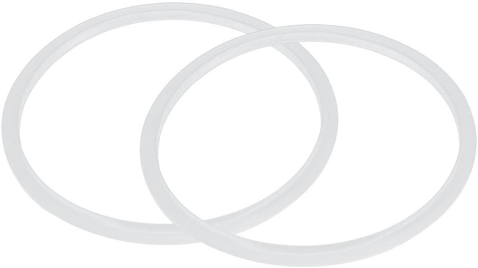 YIZAN Silicone gasket Sealing ring for pressure cooker 22 cm inner diameter, 2 pieces, transparent