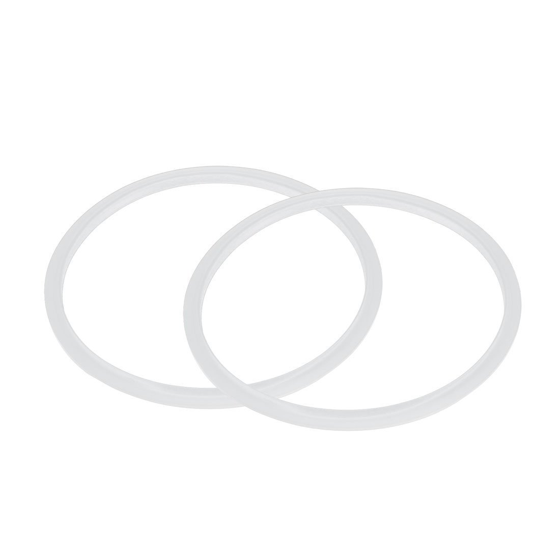 2 Stueck transparent RETYLY Silikon-Dichtung Dichtungsring Fuer Schnellkochtopf 22 cm Innendurchmesser