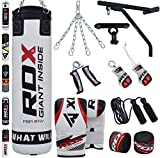 RDX Punching Bag Filled Wall Bracket Boxing Training MMA Heavy Punch Gloves Chain Ceiling Hook Muay...