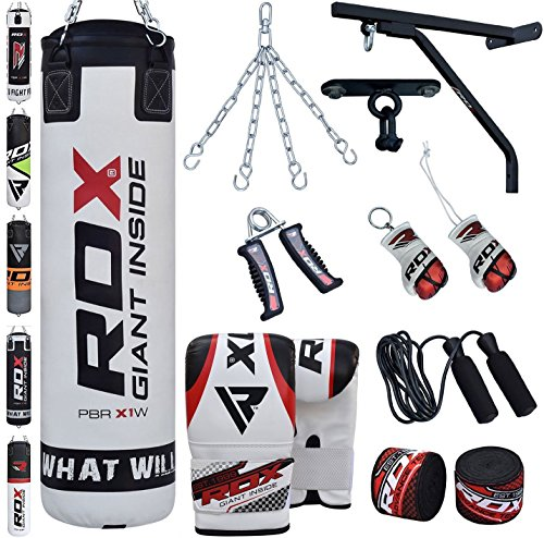 RDX Punching Bag Filled Wall Bracket Boxing Training MMA Heavy Punch Gloves Chain...