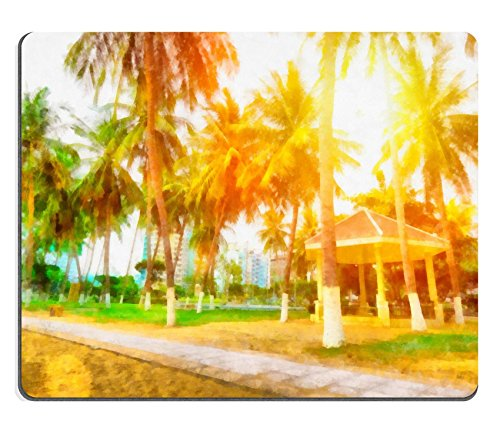 luxlady-mouse-pad-natural-rubber-mousepad-image-id-34628977-painting-with-palm-trees-and-sun-vietnam