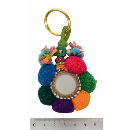 ZEN ETHIC - Llavero con Espejo 6 Pompones - algodón, Color ...