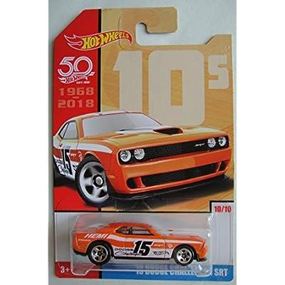 Hot Wheels 10s, Orange '15 Dodge Challenger SRT 50TH Anniversary 10/10: Toys & Games