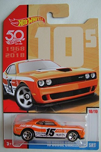 Hot Wheels 10s, ORANGE '15 DODGE CHALLENGER SRT 50TH ANNIVERSARY 10/10