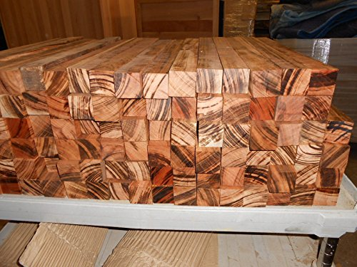5 incredibly figured, black striped TIGERWOOD goncalo alves 24'' x 2'' x 2'' inch by Diamond Tropical Hardwoods