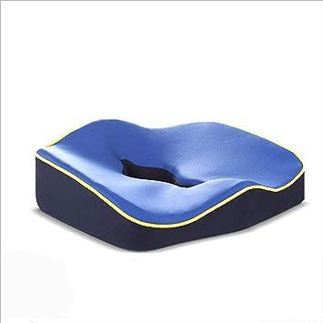 Almohada ortopédica ergonómica Cojín para silla de ruedas Sofá para coche con memoria al aire libre Espuma de apoyo lumbar Volver,Blue: Amazon.es: Salud y ...