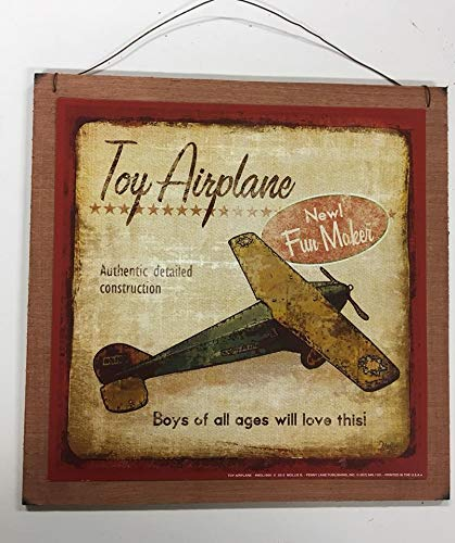 Amazon.com: Toy Airplane Boys Cartel Arte de Pared (Madera ...