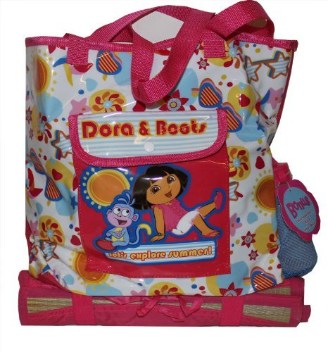 Dora and Boots Summer Beach Bag with Inflatable Beach Toys, Beach Mat and more! ()