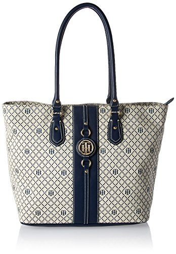 Tommy Hilfiger Travel Tote Bag for Women Jaden, Navy Natural