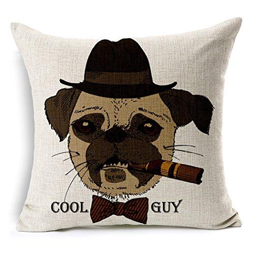 YouYee Simmias Cotton Linen Throw Pillow Case Cushion Cover,